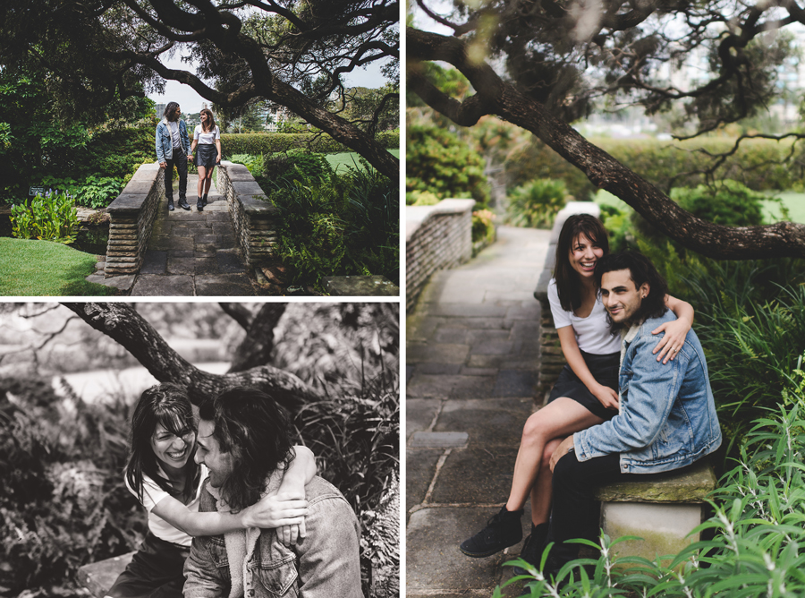 Couple photography at Elizabeth Bay House garden