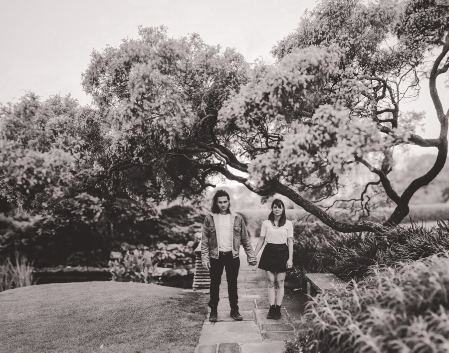 Prewedding photography at Elizabeth Bay House garden