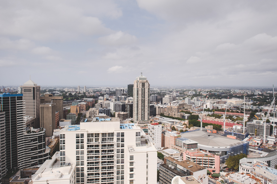 Sydney city skyline from the Meriton Kent Street