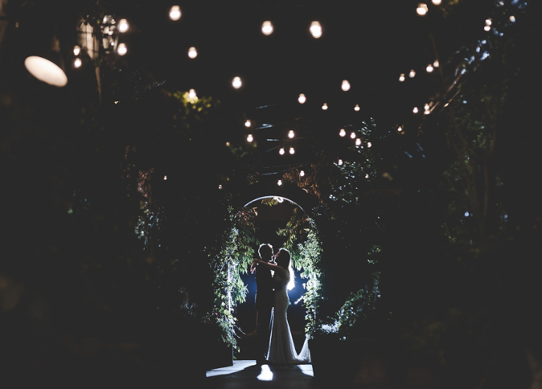 The Grounds wedding photography at night in Alexandria, under the fairy lights