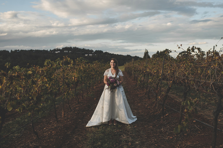 Bride's portrait at Lindemans Winery in the Hunter Valley, Australia