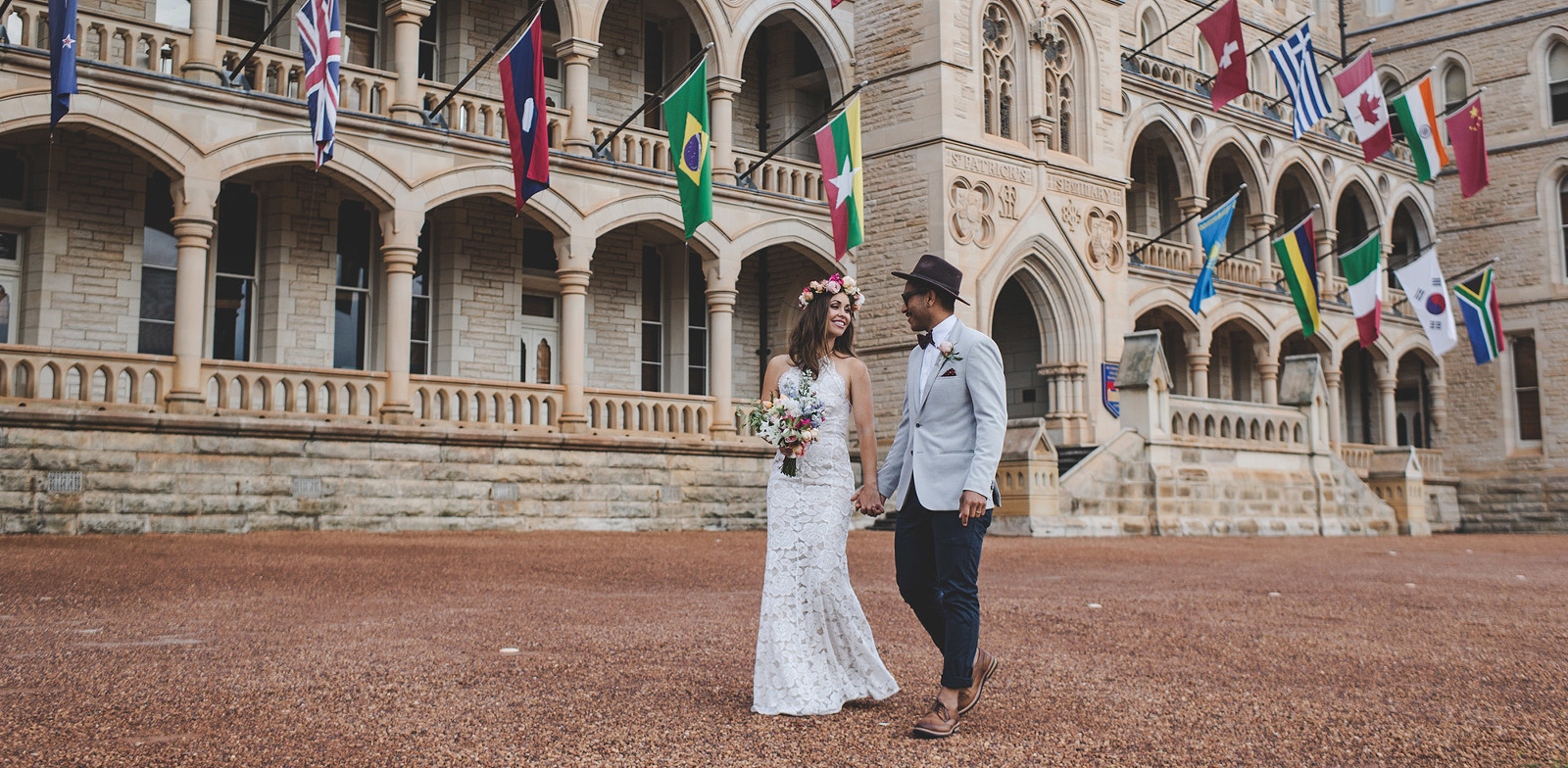 Globetrotting with the Bride and Groom at ICM College in Manly