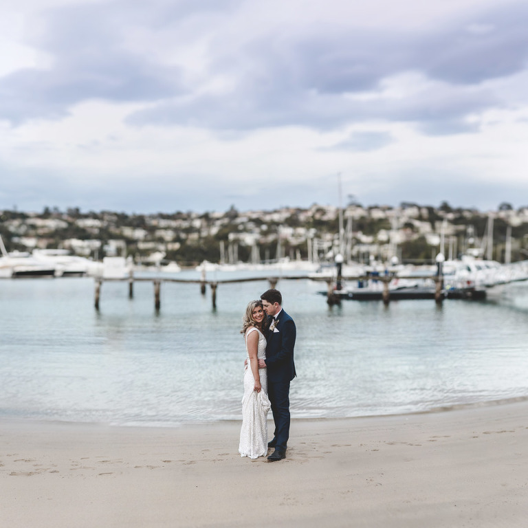 Mel & Kiel take a moment out at Zest on the Spit during their wedding day